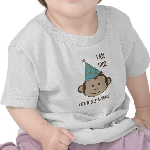 Birthday Monkey Face Shirt