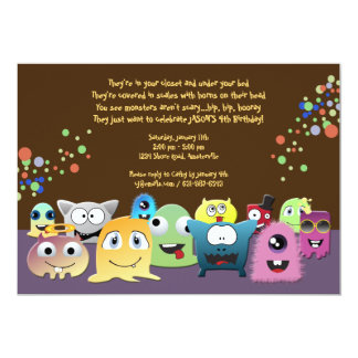 Birthday Monsters Party Invitation