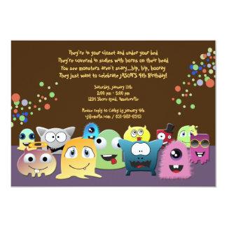 "Birthday Monsters Party Invitation 5"" X 7"" Invitation Card"