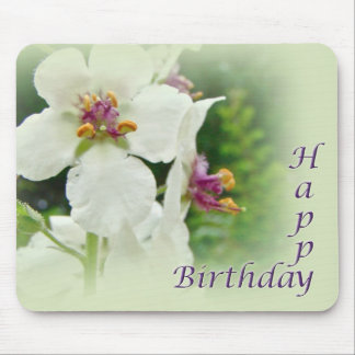 Birthday Moth Mullein Wildflower Mouse Pad
