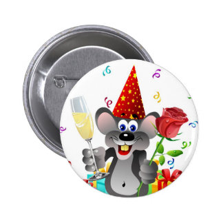 Birthday Mouse Pin