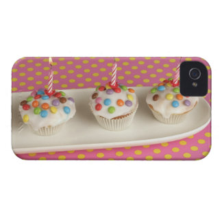 Birthday muffins with icing, sprinkles and iPhone 4 Case-Mate case