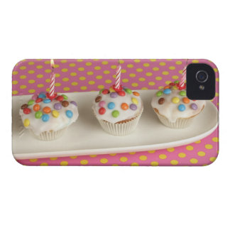 Birthday muffins with icing, sprinkles and iPhone 4 Case-Mate cases