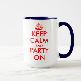 Birthday Mug with keep calm theme