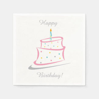 Birthday Napkins Paper Serviettes