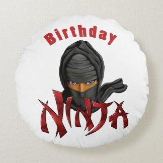 Birthday Ninja Round Cushion