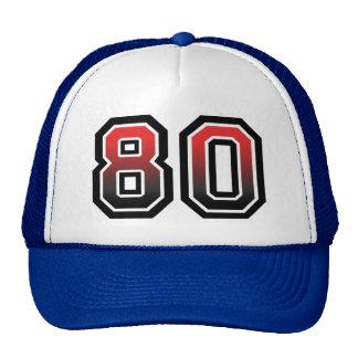 Birthday Number 80 Cap