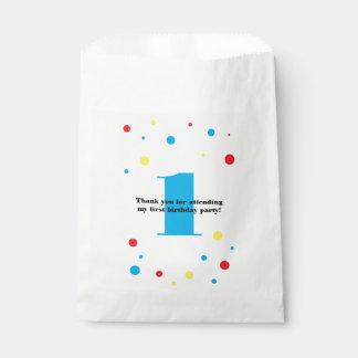 Birthday Number Color Polka Dots Favour Bag