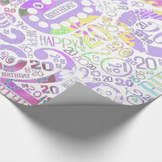 Birthday Number Word Cloud Twenty F ID270 Wrapping Paper