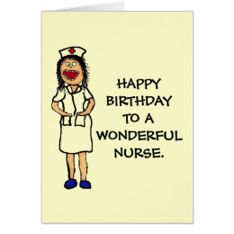 Nurse birthday cards invitations zazzle birthday nurse card bookmarktalkfo Images