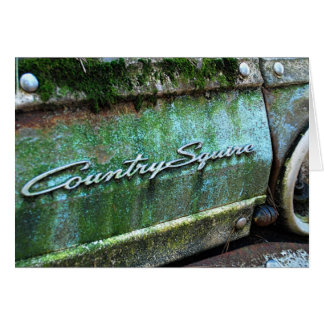 Birthday, Old Vintage Car, Country Squire Card