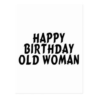 Birthday Old Woman Postcard