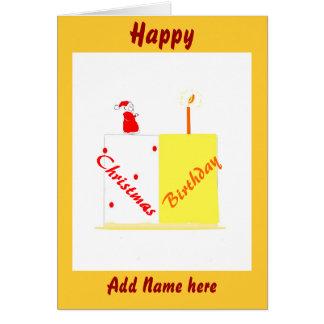 Birthday on Christmas customizable card