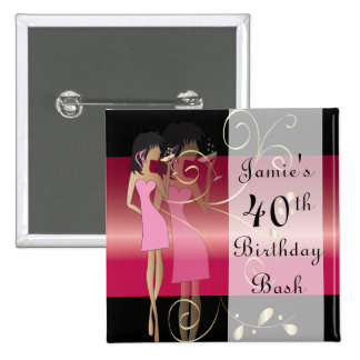 Birthday or Bachelorette Diva Girl Fun 15 Cm Square Badge