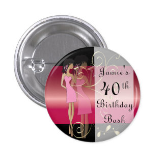 Birthday or Bachelorette Diva Girl Fun 3 Cm Round Badge