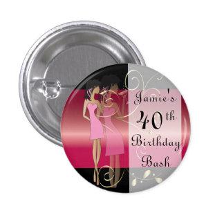 Birthday or Bachelorette Diva Girl Fun 3 Cm Round Badge