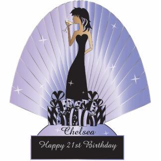 Birthday or Bachelorette Diva Princess | Purple Photo Cutout