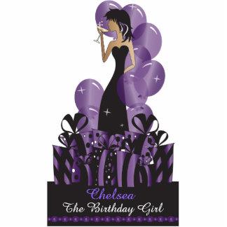 Birthday or Bachelorette Diva Princess | Purple Acrylic Cut Out