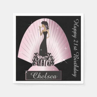 Birthday or Bachelorette Party Napkins Disposable Serviettes