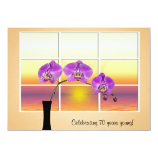 Birthday Orchid Invitation