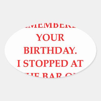 birthday oval sticker
