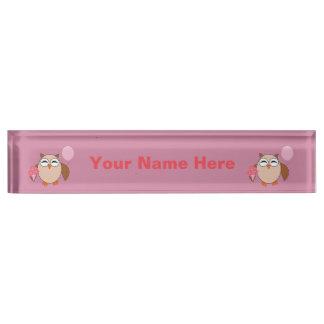 Birthday Owl Custom Nameplate