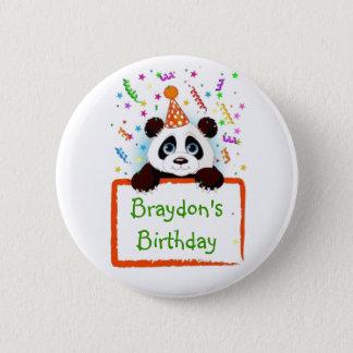 Birthday Panda 6 Cm Round Badge