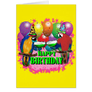 BIRTHDAY PARROTS CARD