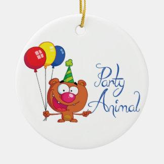 Birthday Party Animal Christmas Ornaments