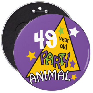 Birthday Party Animal | DIY Age 6 Cm Round Badge