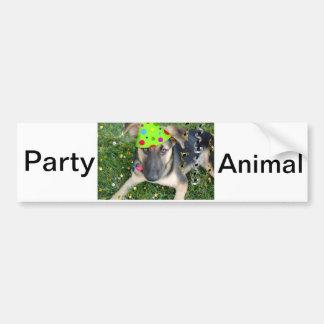 Birthday Party Animal German Shepherd Bumper Sticker