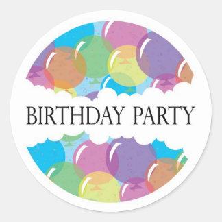 Birthday Party Balloon Sticker