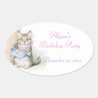 Birthday Party Beatrix Potter Water Bottle Sticker