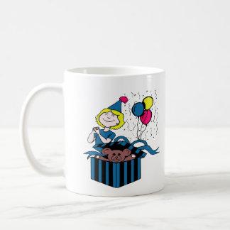 Birthday Party Boy Girl Teddy Bear Present Balloon Coffee Mug
