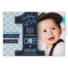Birthday Party | Boy | One Year |  Photo Card