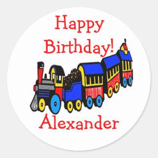 Birthday Party | Choo-Choo Train Round Sticker