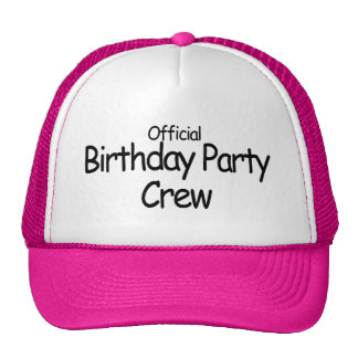 Birthday Party Crew (Black) Mesh Hats
