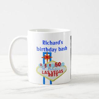 Birthday Party  Custom Las Vegas Sign Basic White Mug