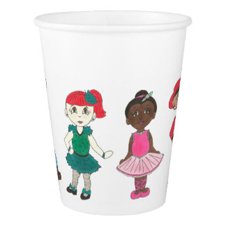 Birthday Party Dance Recital Ballet Tap Jazz Acro Paper Cup