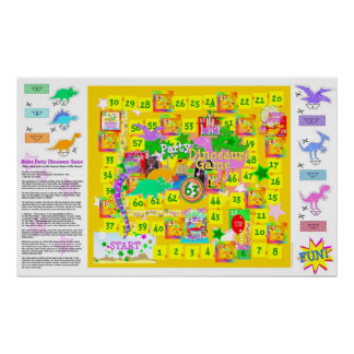Birthday Party Dinosaurs Game Poster