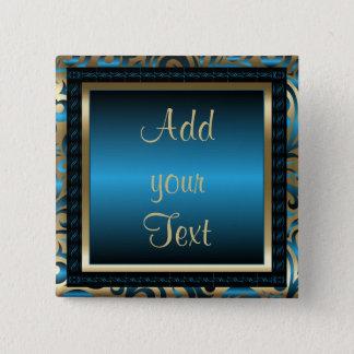 Birthday Party | DIY Text | Blue 15 Cm Square Badge