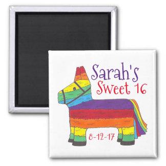 Birthday Party Favor Rainbow Donkey Animal Piñata Magnet