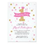 Birthday Party | First Birthday Princess 13 Cm X 18 Cm Invitation Card