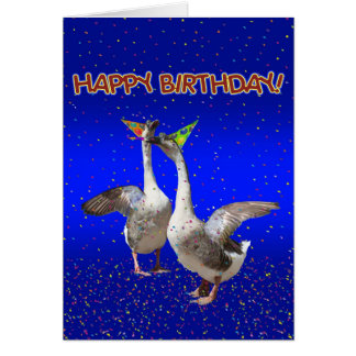 Birthday Party Geese - Goosebumps Card
