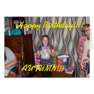 Birthday Party Greeting Card. Card