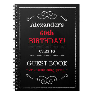 Birthday Party Guest Book- Spiral Notebook