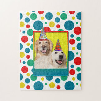 Birthday Party Hat - Golden Retriever Tebow Corona Jigsaw Puzzle