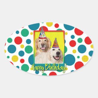 Birthday Party Hat - Golden Retriever Tebow Corona Stickers