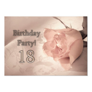 Birthday Party Invitation 18 Years Old