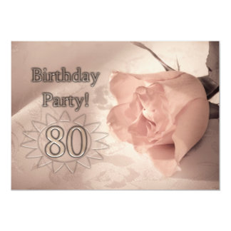 Birthday party invitation 80 years old